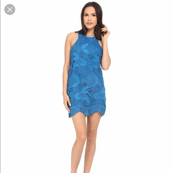 Lovers + Friends Dresses & Skirts - Lovers + Friends Blue Caspian Shift Dress Size M